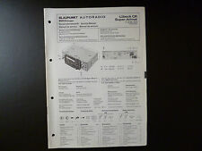 Original Service Manual Blaupunkt Autoradio Lübeck CR Super Arimat 7638921