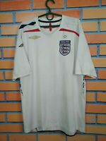 England Jersey 2007 2009 Home LARGE Shirt Football Soccer Umbro