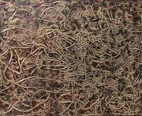Modernist LARGE ABSTRACT PAINTING TEXTURAL Expressionist MODERN ART WORM FOLTZ