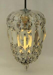 Beautiful small Vintage/Antique Crystal Chandelier Ceiling Light Fitting