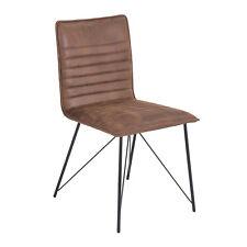 2er Set Küchenstuhl Esszimmerstuhl Stuhl Stuhl Mia Microfaser Braun