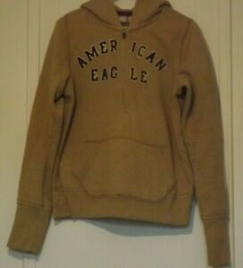 American Eagle Outfitter Hoodie beige Neutral pouch pockets half zip size S / P