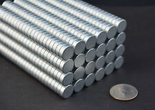10 MAGNETS - 13mm X 4 cylinder disk STRONG N42 Zinc coated Neodymium - US SELLER