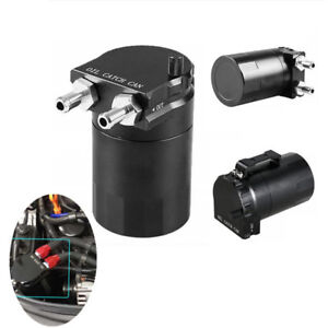Car Universal Aluminum Oil Catch Can Oil Filter Tank Round Reservoir Oil Drainer