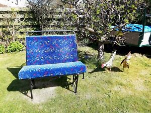 Old  bus seat bench MAN CAVE , Retro