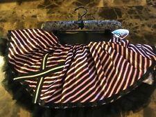 GIRLS MONSTER HIGH RED & BLACK PETTI SKIRT TUTU COSTUME DRESS. One Size