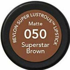 Revlon Super Lustrous Lipstick -MATTE- #050 SUPERSTAR BROWN- SEALED- SHIPS FREE