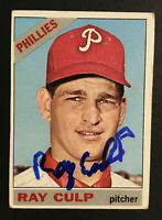 Ray Culp Phillies signed 1966 Topps baseball card #4 Auto Autograph