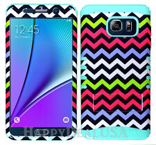 KoolKase Hybrid Silicone Cover Case for Samsung Galaxy Note 5 - Chevron Wave 04