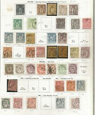 FRANCE -FROM 1876 USEFUL COLLECTION OF CLASSICS ON ALBUM PAGE WITH HIGH VALUE