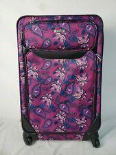 "$249 TAG Travel Springfield III Suitcase Luggage Purple Floral Print 27"" Upright"