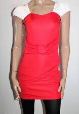 Unbranded Women's Red White Fitted Day Dress Size S BNWT #TM21