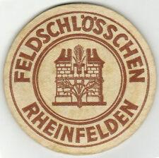 Bierdeckel Brauerei Feldschlösschen Schweiz Aargau Rheinfelden 5 mm dick
