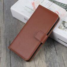 Huawei p10 Lite Wallet Case Genuine Split Cuir Veritable Book Étui Housse Marron