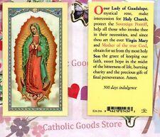 Our Lady of Guadalupe - Our Lady of Guadalupe Prayer -s2 - Laminated Holy Card