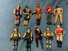 ( 10 ) VINTAGE 1980's G.I. JOE ALL AMERICAN HERO -EXC COND. LOT D