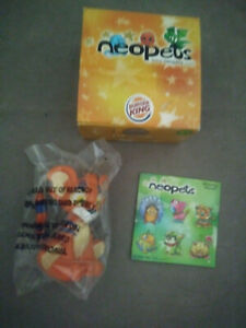 NEW Neopets Burger King Kougra with Playset Box and Stickers