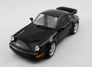 WELLY PORSCHE 911 TURBO BLACK 1:24 DIE CAST METAL MODEL NEW 17cm LONG