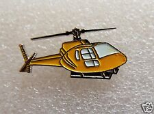 Yellow Helicopter enamel pin lapel badge Air Force Air  air sea rescue