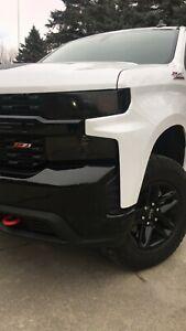Chevy Silverado Trail Boss Smoked TINT Headlight Blackout Lens Precut Decal