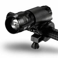 360° Bike Bicycle Light Lamp Front Torch LED Flashlight L0Z0 Ho Bracket E5T3