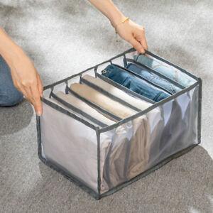 Foldable Drawer Organizer Divider Closet Storage Box For Underwear Bra Sock