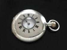 Baume & Co, Jays London Solid Silver Half Hunter Pocket Watch / montre gousset