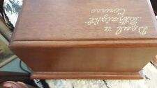 Vintage Wooden Canasta Box With Cards -Deal U S