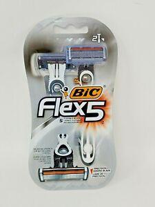 (1) BIC FLEX 5 SHAVER W/ Balancing Sphere & 5 Flexible Blades x 2 Shavers