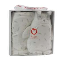 Boxed Plum Bamboo Baby Gift Set Cuddly Owl Toy Wrap 100 X 100cm Postage
