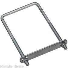 "30 Pk Steel Zinc Plated 3/8"" Dia 4"" Wide X 7"" long Square U Clamp U Bolt N222406"