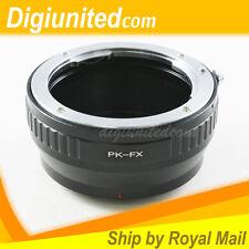 Pentax K PK P/K Mount Lens to Fujifilm Fuji X-Pro1 FX E1 E2 M1 T1 T10 A1 Adapter