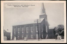MANCHESTER MD Trinity Evangelical & Reformed Church Vintage Town View Postcard