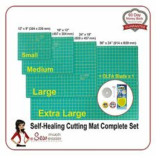 Self-Healing Cutting Mats x4 + OLFA Blade x1 rotary cutter spare blades Mat > A1