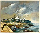 Danico huile sur toile originale signée paysage marine