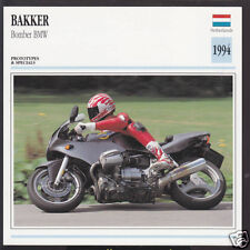 1994 Bakker Bomber BMW 1085cc Netherlands Bike Motorcycle Photo Spec Info Card