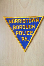 Patches-NORRISTOWN BOROUGH PA- Pennsylvania, USA POLICE PATCH (NEW,apx. 8x10 cm