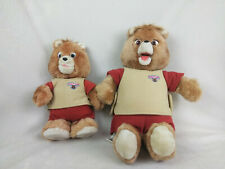 "Lot of 2 Teddy Ruxpin Bears 14"" Bear and Vintage 1985 21"" Bear"