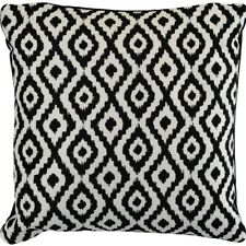 Black White Diamond Pattern Blur Abstract Print Cushion 45 X 45cm + Feather Pad