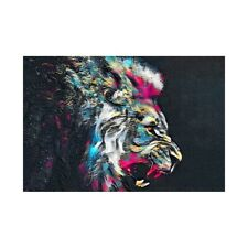 Roaring Lion Canvas Poster Art Picture Prints Home Wall Hanging Decor