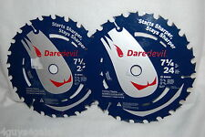 """Bosch Daredevil DCB724 7-1/4"""" 24 Tooth Saw Blade FRAMING RIPPING  Lot of TWO"""