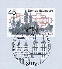 BRD 2016: Dom zu Naumburg! Nr. 3264 mit sauberem Bonner Sonderstempel! 1A! 1806