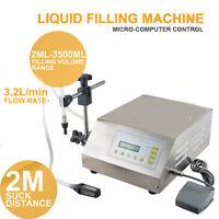 DIGITAL CONTROL AUTOMATIC PUMP DRINK WINE WATER LIQUID FILLING MACHINE 5-3500ML
