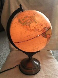 World Globe Desk top touch lamp