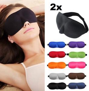 2x Schlafmaske Augenmaske 3D Damen Herren Schlafbrille Maske Augenbinde Reise