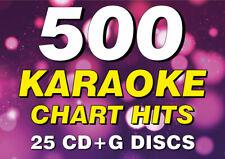 More details for 500 huge karaoke chart hits songs - karaoke bundle collection cdg cd+g discs