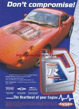 Carlube Triple R Fully Synthetic Motor Oil 2003 Magazine Advert #182