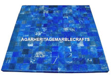 Marble Coffee Center Table Top Lapis Lazuli Inlaid Marquetry Garden Decor H2027