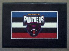 NRL PENRITH PANTHERS CARPET RUG rubber back - NEW!
