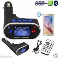 Bluetooth Wireless Auto MP3 Player FM Transmitter Modulator USB SD LCD Charger